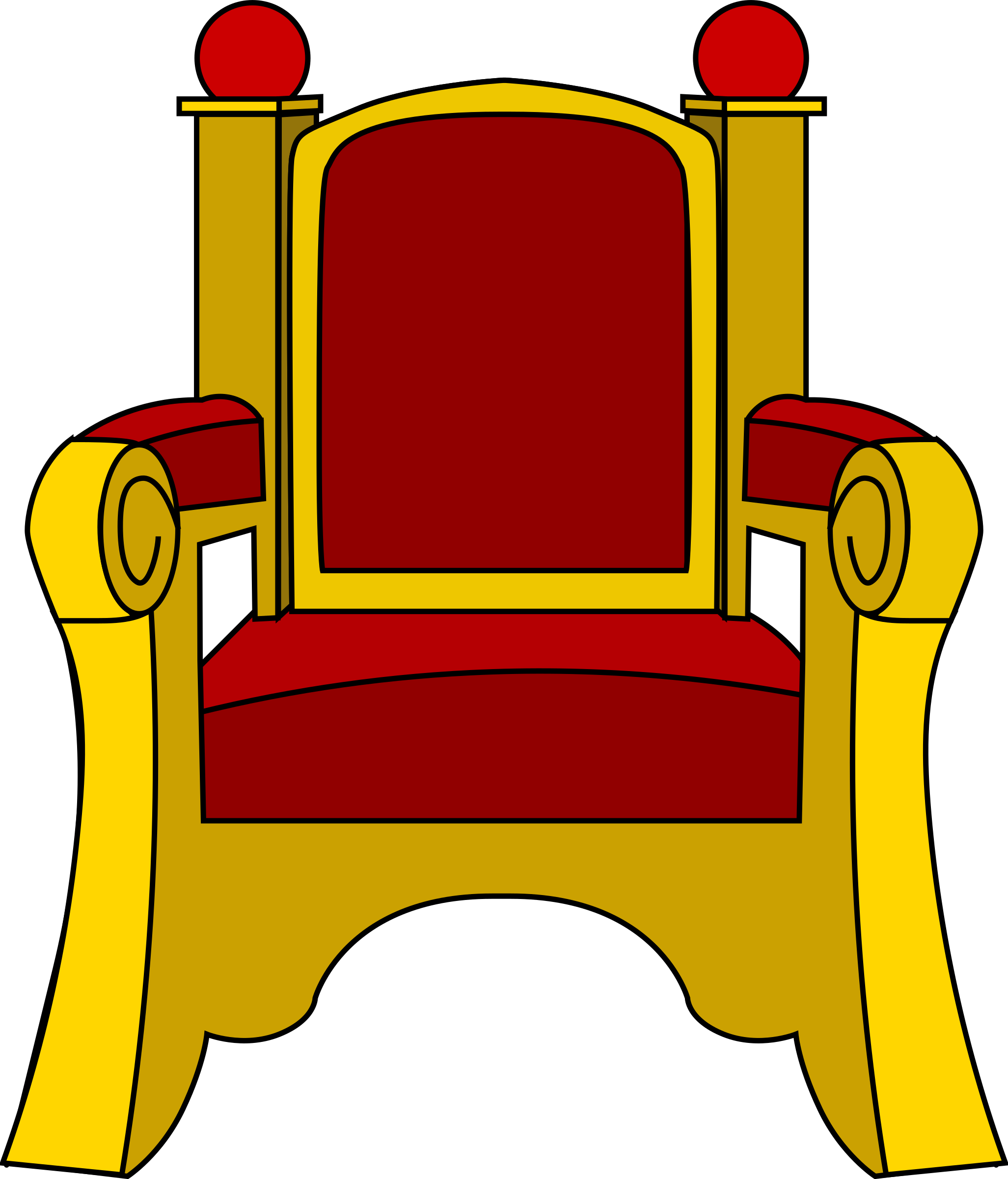 King clipart scepter. Throne big image png