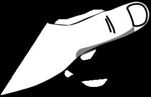 White individual clip art. Thumb clipart