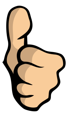 Like . Thumb clipart
