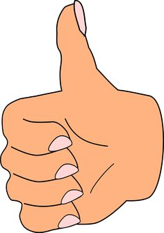 Thumb clipart.  collection of rule