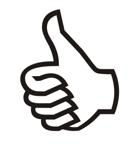 Thumb clipart achieved. A thumbs up or