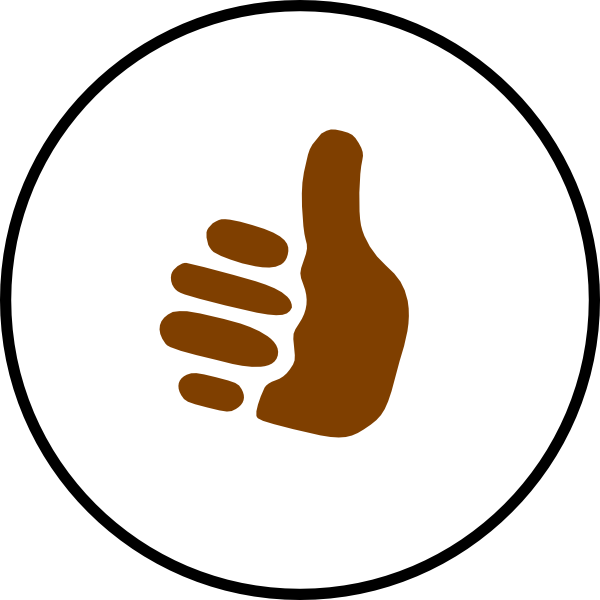 Thumb clipart brown. Thumbs up symbol clip