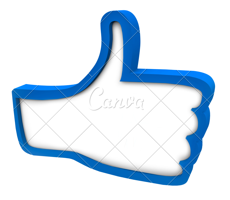 Blue thumbs up icon. Thumb clipart customer review