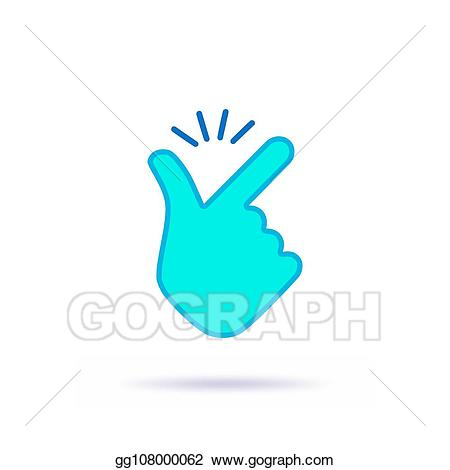 Thumb clipart easy. Eps vector snap fingers