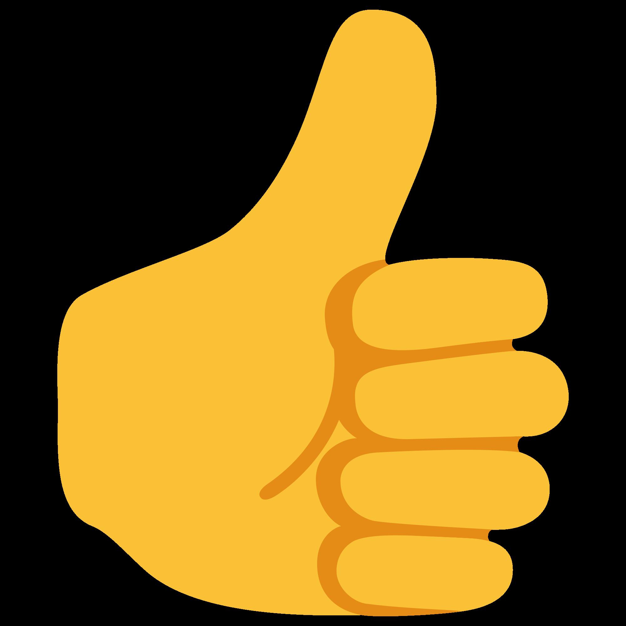 Thumb clipart emoji. File u f d