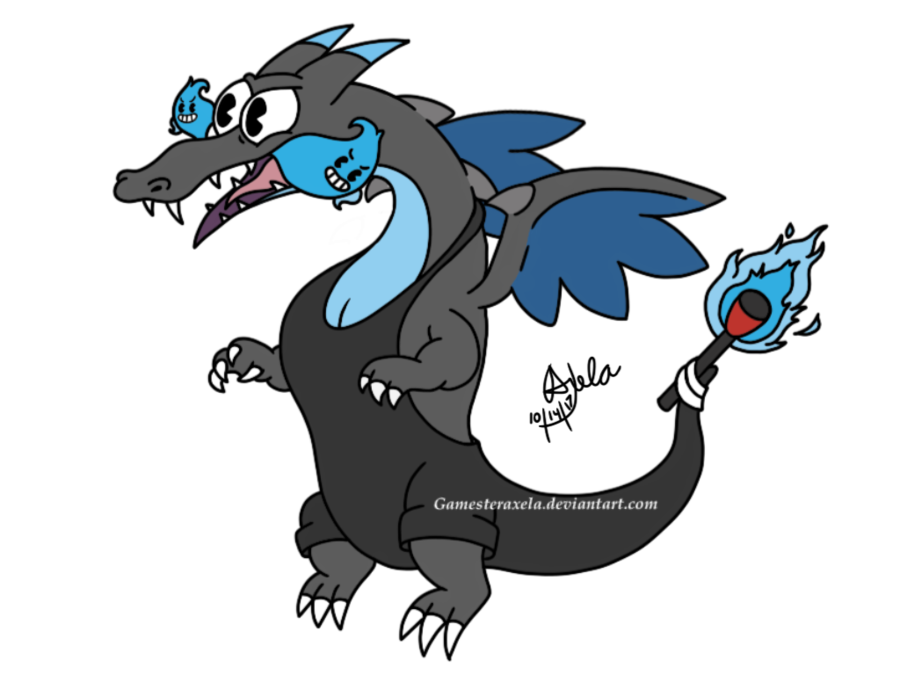 Pokemon and cuphead crossover. Thumb clipart gig em