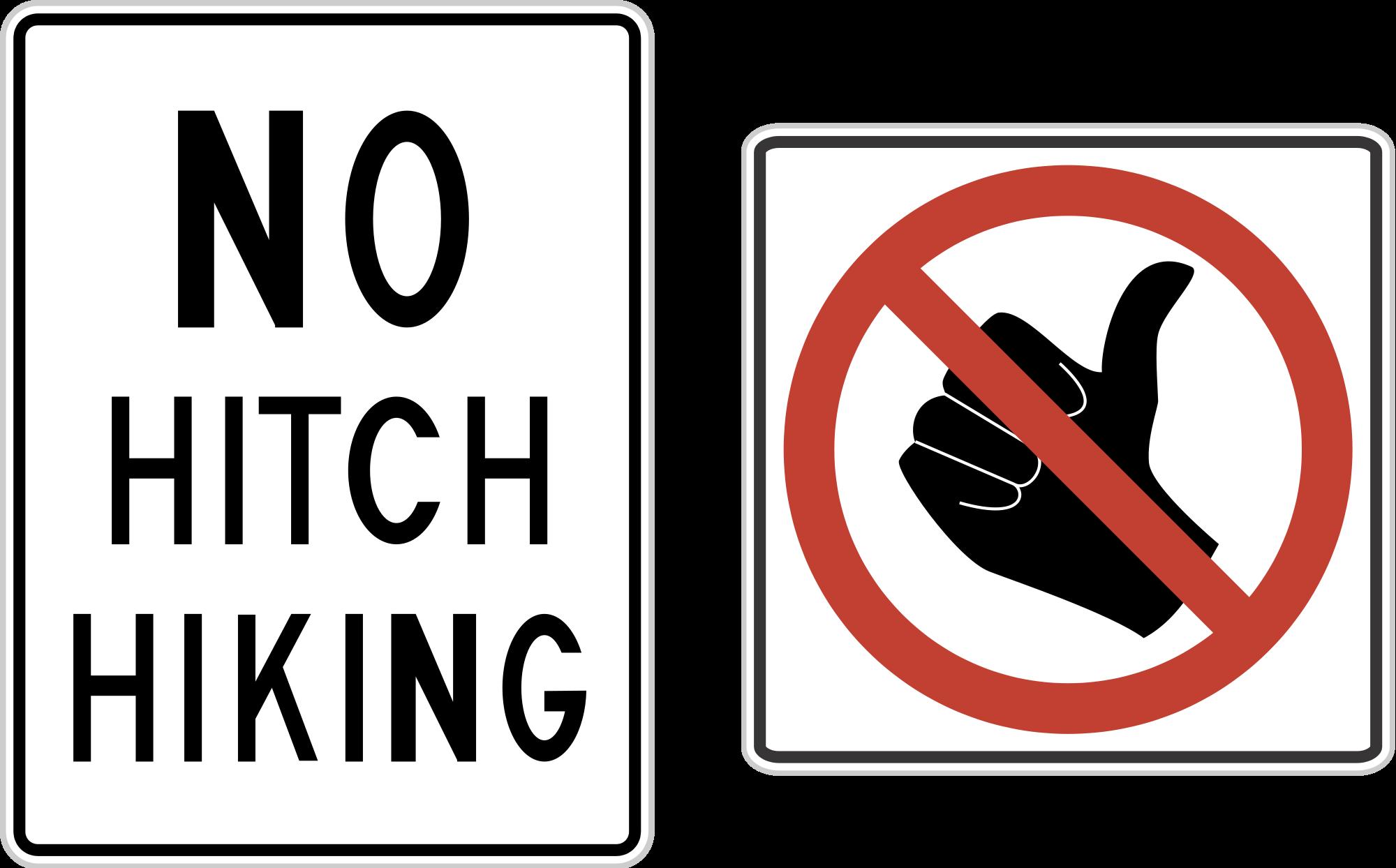 File us no hitchhiking. Thumb clipart hitchhiker's thumb