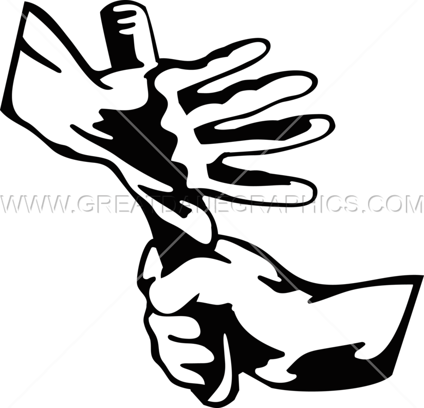 Thumb clipart inch. Baton exchange production ready