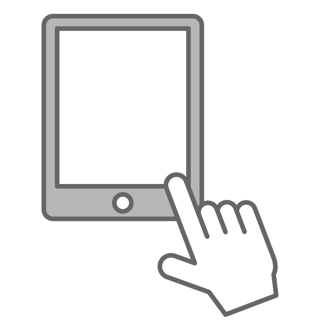 Tablet pc free icon. Thumb clipart mark
