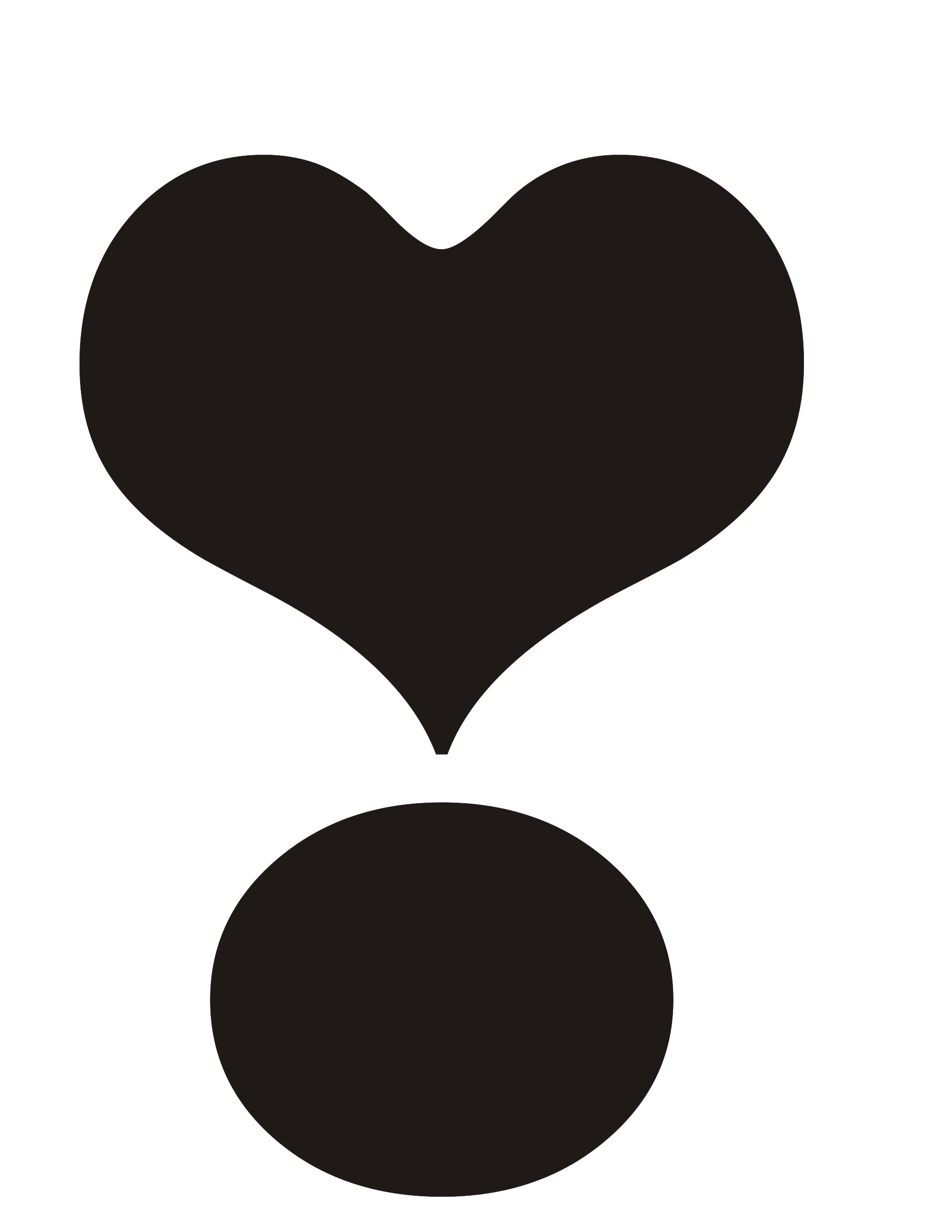 Thumb clipart mark. File exclamation heart black