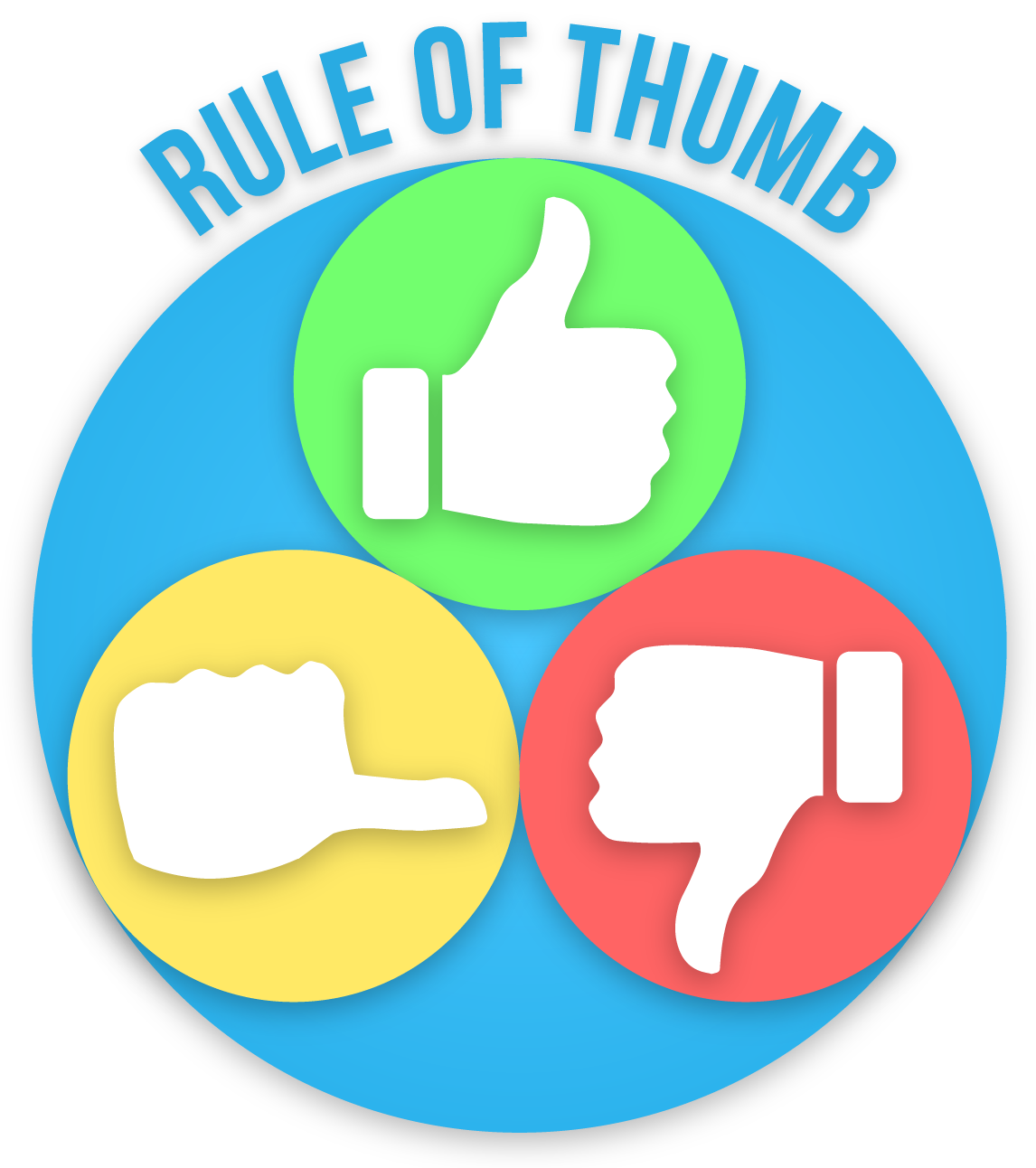 Thumb clipart rule thumb. Of opinion laloyolan com