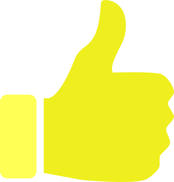 Yellow like clip art. Thumb clipart side