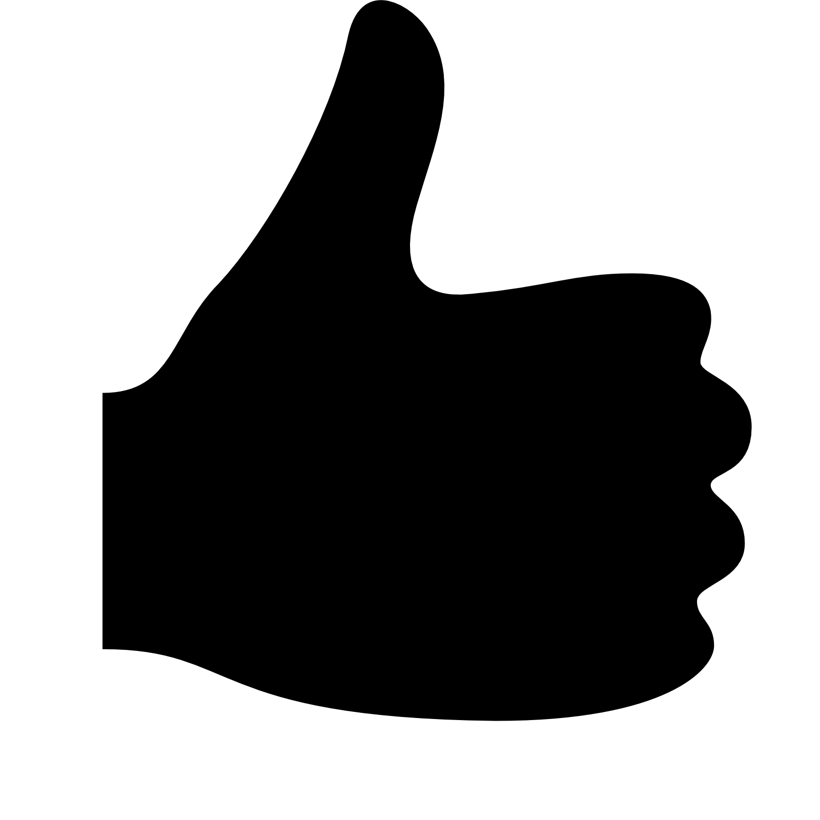 Thumb clipart side. Thumbs up icon down