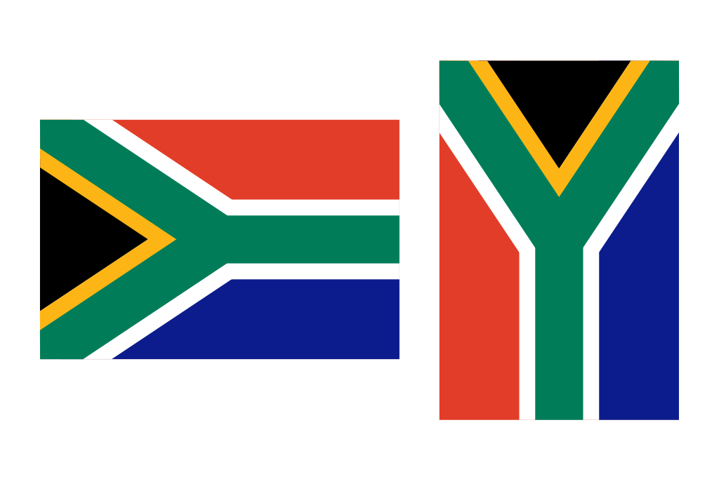 File south africa flag. Thumb clipart sideways
