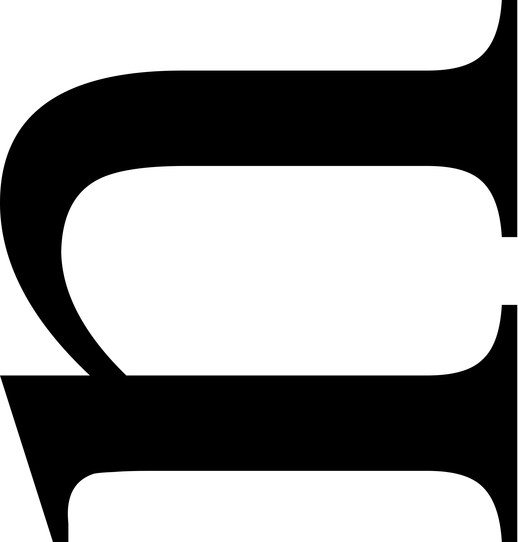 File latin small letter. Thumb clipart sideways