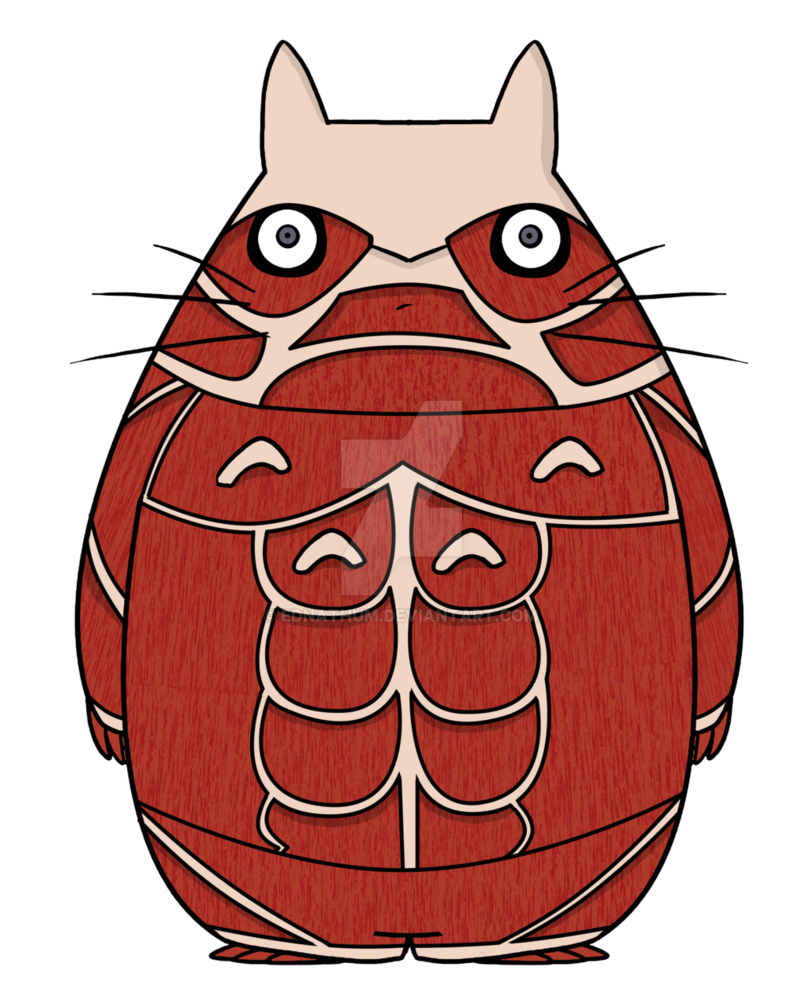Thumb clipart thum. Attack on totoro by