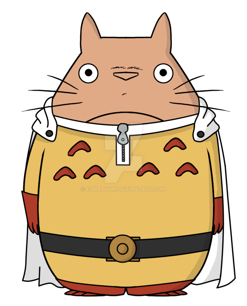 Thumb clipart thum. One punch totoro by