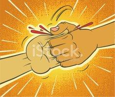 Victory stock vectors me. Thumb clipart thumb war