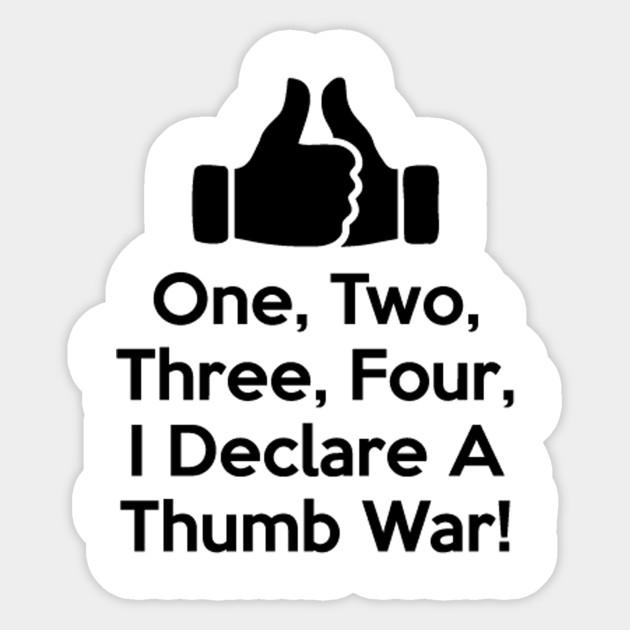 Thumb clipart thumb war.  i declare a
