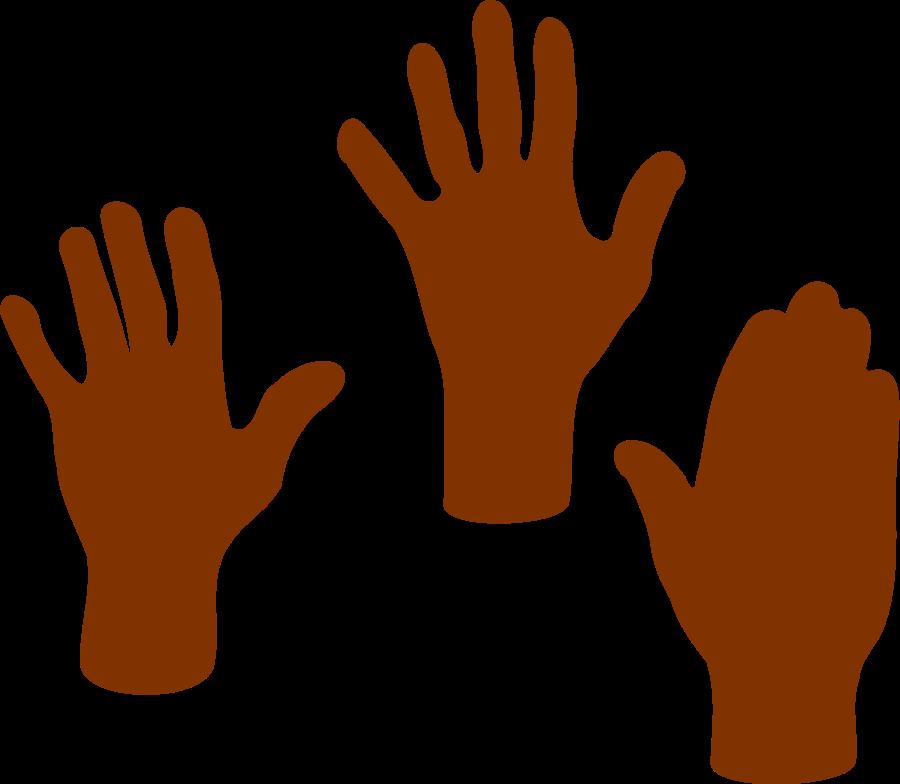 Thumb clipart vector.  hands clip art