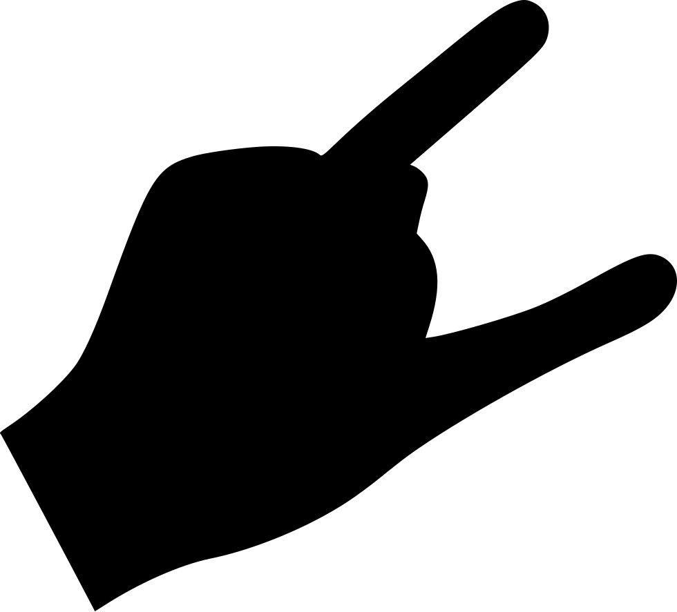 Thumb clipart well done. Finger rock cool svg