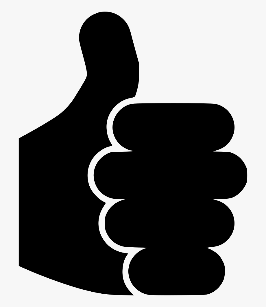 Thumb clipart yes. Money fist icon black