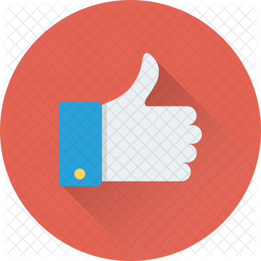 Business finance icons in. Thumbs up icon png