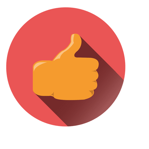 Thumbs up icon png. Circle transparent svg vector