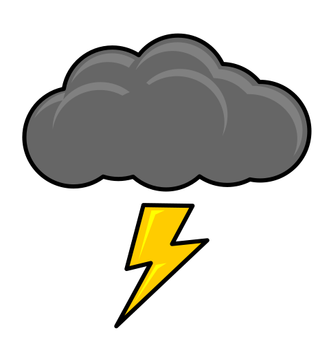 Thunderstorm clipart. Cloud