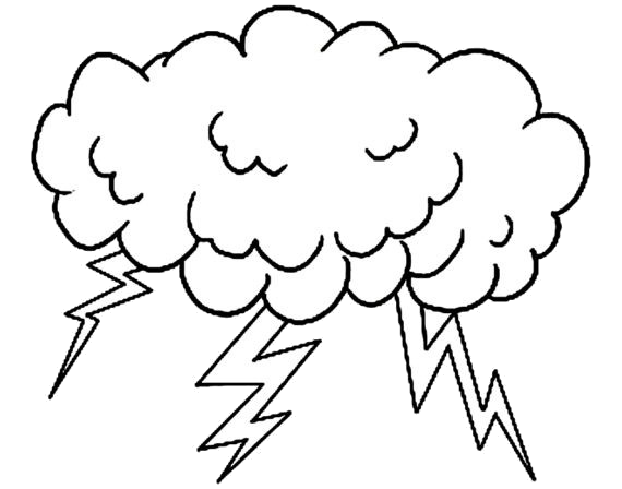 Thunderstorm clipart black and white. In thunder transparent