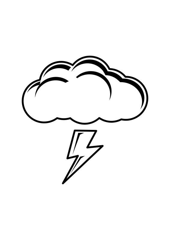 Thundercloud medium image png. Thunderstorm clipart black and white