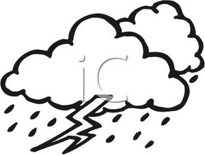 Storm cloud panda free. Thunderstorm clipart black and white