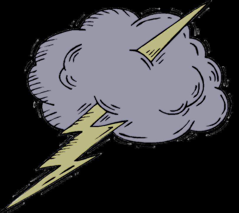 Transparent free storm cloud. Thunderstorm clipart cute