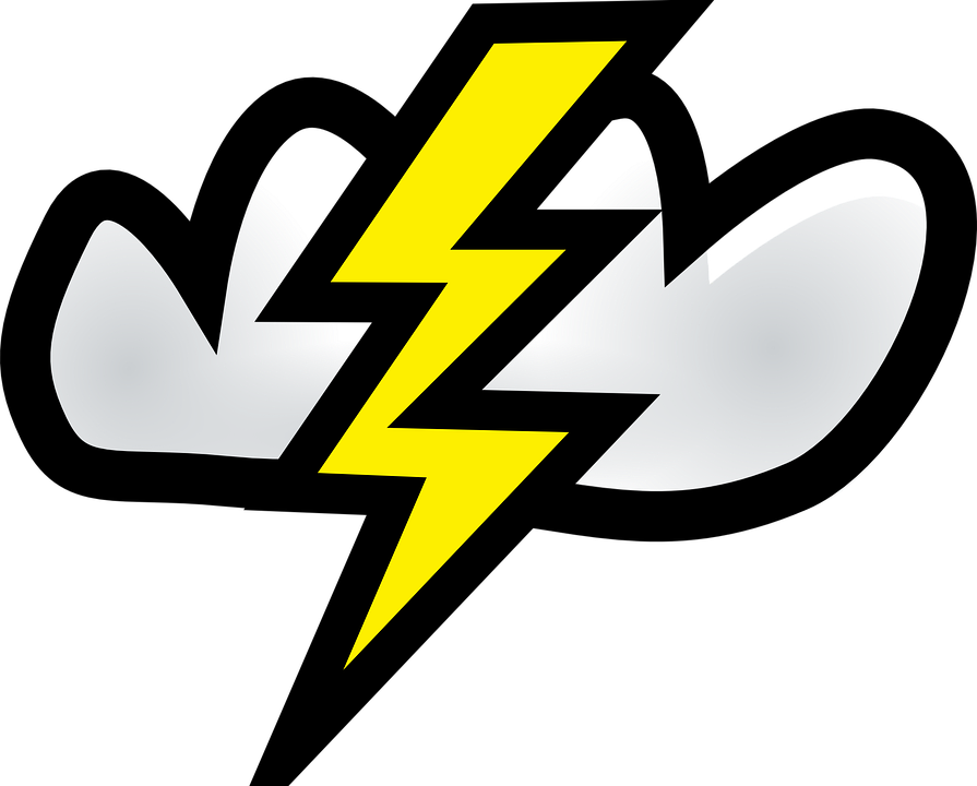 Thunderstorm clipart cute. Thunder rainstorm free collection