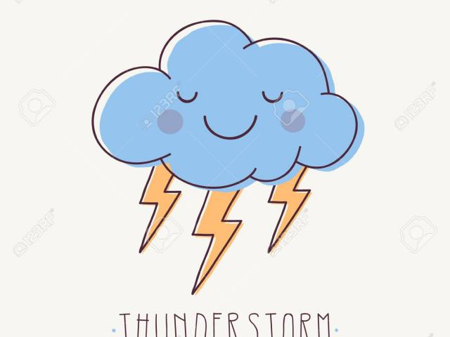 Thunderstorm clipart cute. Free download clip art