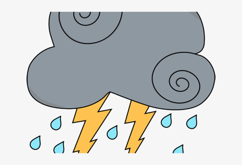 Png image transparent free. Thunderstorm clipart cute