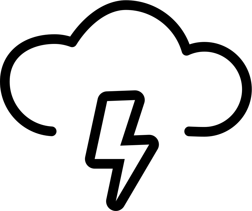 Outlined weather sign svg. Thunderstorm clipart electrical storm