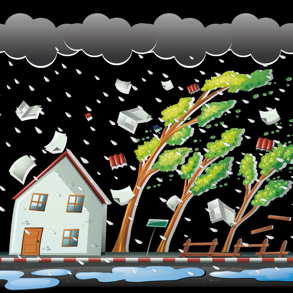 Windy clipart winter wind. Thunderstorm clip art vector