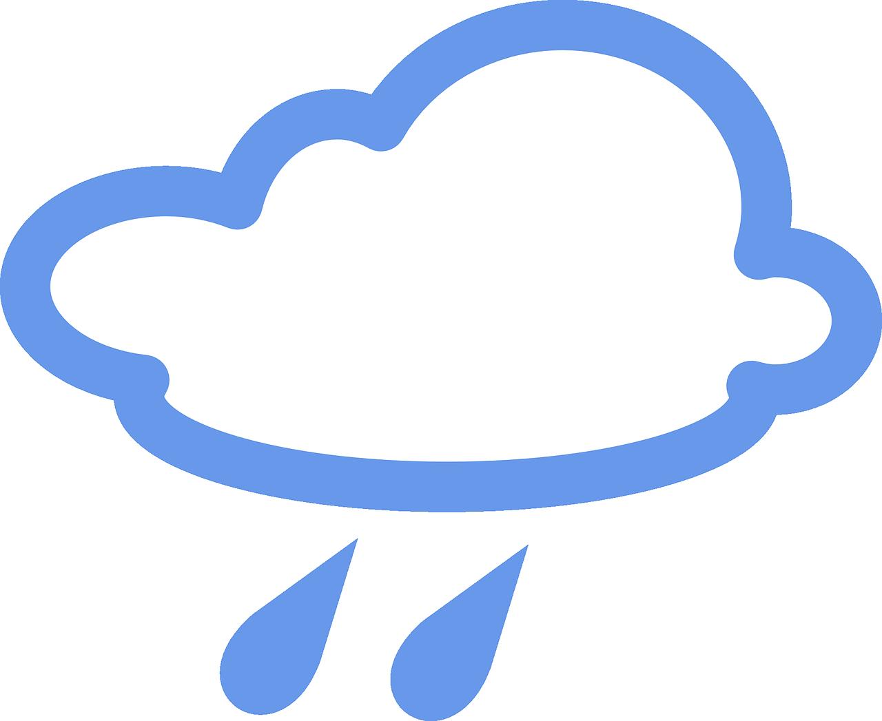 Thunderstorm clipart overcast. Cloudy rainy rain drops