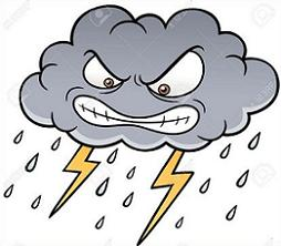 Thunderstorm clipart scared. Free