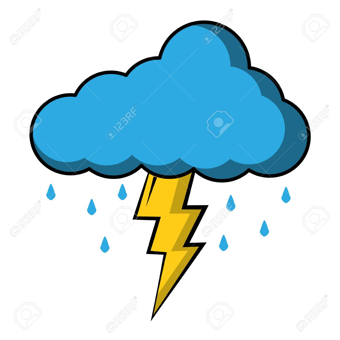 Thunderstorm clipart thunder sound. Free download clip art