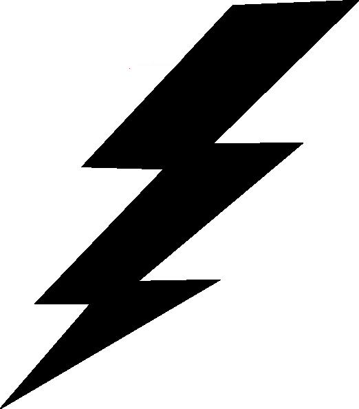 Thunder bolt plain clip. Thunderstorm clipart transparent
