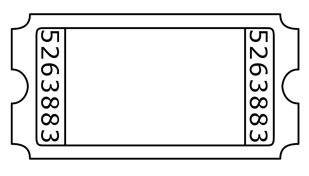 Free blank cliparts download. Ticket clipart admission
