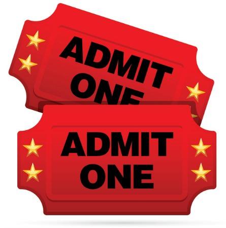 Ticket clipart admit one. Free download best
