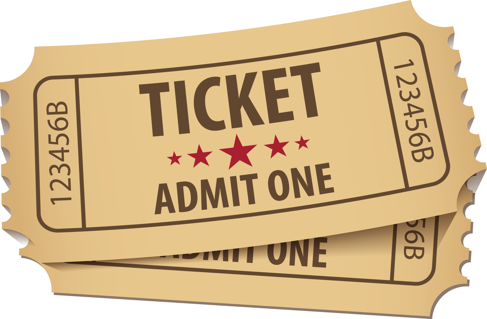 Ticket clipart admit one. Png free download mart