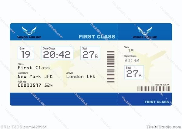 Tickets clipart airplane ticket. Of plane stock photo