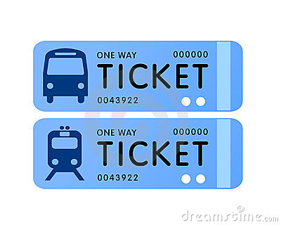 Tickets clipart bus fare.