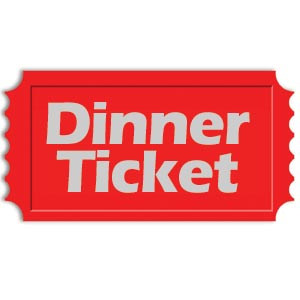 Knights of columbus council. Ticket clipart dinner