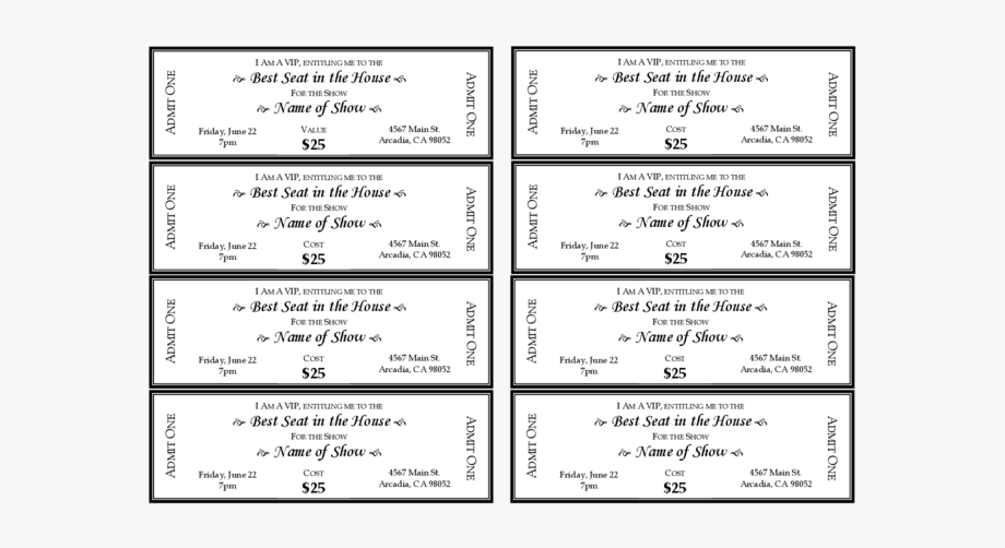 Dinner Ticket Template Free from webstockreview.net