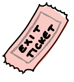 Tickets clipart exit ticket.